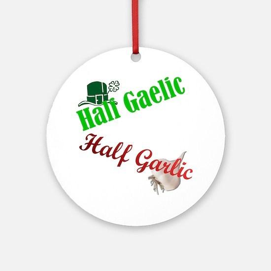 Half N' Half Ornament (Round)