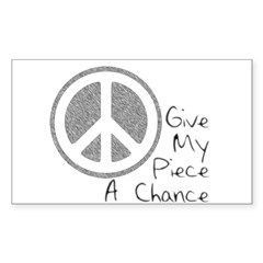 Give Piece A Chance Sticker (Rectangle)