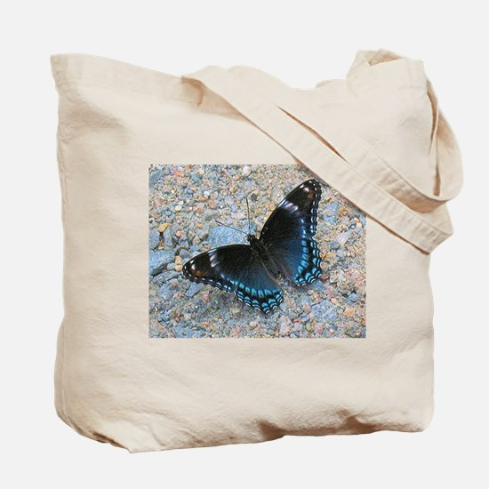 Wild Beach Sweet Pea Tote Bag <> Butterfly on Back