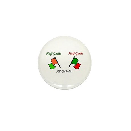 Half N' Half - Catholic Mini Button
