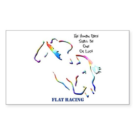 Flat Racing Rectangle Sticker
