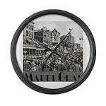 Mardi Gras Large Wall Clock