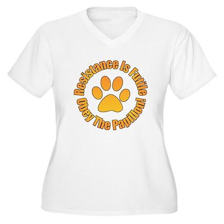 Papillon Women's Plus Size V-Neck T-Shirt