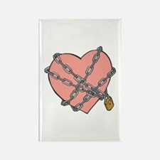 Heart in Chains Rectangle Magnet
