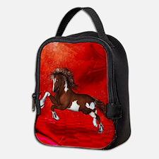 Beautiful wild horse on fantasy background Neopren