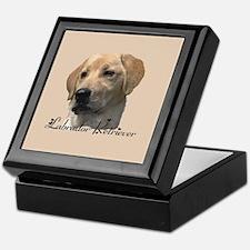 Yellow Labrador Retriever Keepsake Box