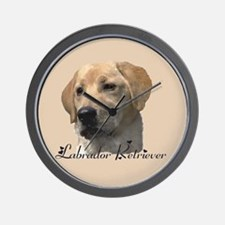Yellow Labrador Retriever Wall Clock