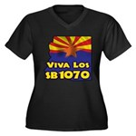 Viva Los SB1070 Women's Plus Size V-Neck Dark T-Sh