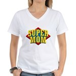 SUPERMOM Women's V-Neck T-Shirt