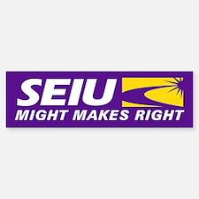 SEIU - Might Makes Right, Bumper Bumper Sticker