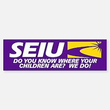 SEIU - Where Your Children Are, Bumper Bumper Sticker