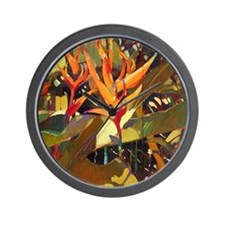 Island Gold Wall Clock