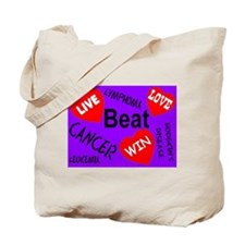 Beat Cancer! Live! Love! Win! Tote Bag