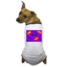 Beat Cancer! Live! Love! Win! Dog T-Shirt