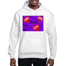Beat Cancer! Live! Love! Win! Hoodie Sweatshirt