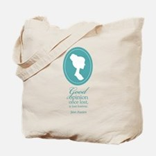 Austen Good Opinion Quote Tote Bag