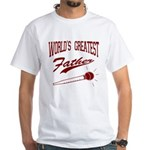 World's Greatest Father White T-Shirt