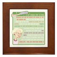 A Gorgeous Grandma Is... Framed Tile