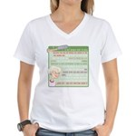 A Gorgeous Grandma Is... Women's V-Neck T-Shirt