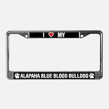 Alapaha Blue Blood Bulldog License Plate Frame