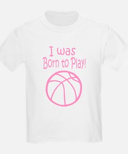 I was born to play (Pink) Kids T-Shirt