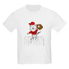 Outfielder Cat T-Shirt