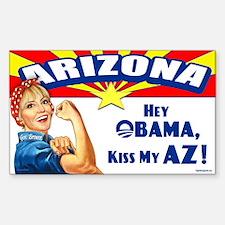 Kiss My AZ Sticker (Rectangle)