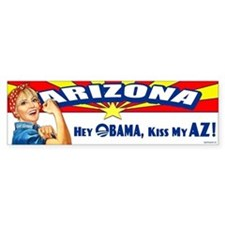 Kiss My AZ Bumper Sticker
