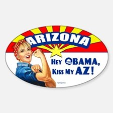 Kiss My AZ Sticker (Oval)