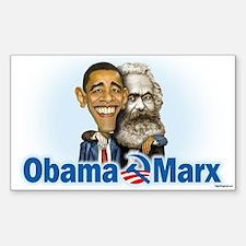 Obama Marx (re-release) Sticker (Rectangle)