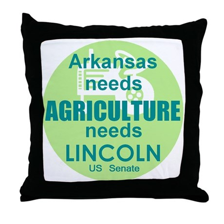 Lincoln Agriculture Throw Pillow