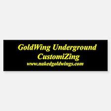GoldWing Shop #Underground Bumper Bumper Bumper Sticker