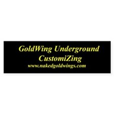 GoldWing Shop #Underground Bumper Bumper Sticker