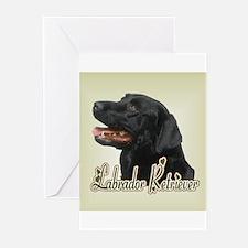 Black Labrador Retriever Greeting Cards (Pk of 10)