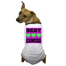 Beat Cancer! Live Love Win! Dog T-Shirt