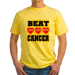 Beat Cancer Live Love Win! T