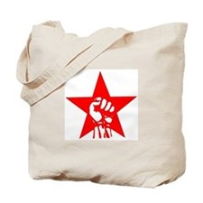 Red Star Fist Tote Bag