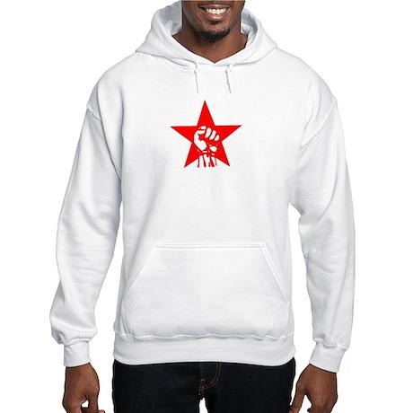 Red Star Fist Hooded Sweatshirt