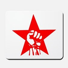 Red Star Fist Mousepad