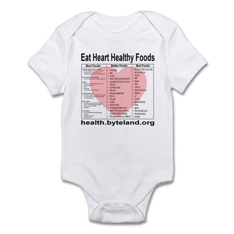 Eat Heart Healthy Foods Infant Bodysuit