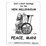 Old Hippie - Peace Small Poster