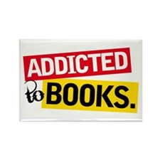 Funny Addicted To Books Rectangle Magnet