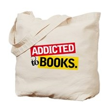 Funny Addicted To Books Tote Bag