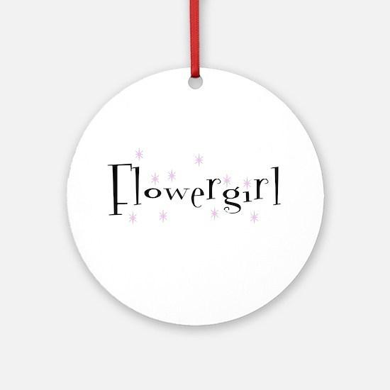 Flower Girl Sparkly Ornament (Round)