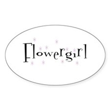 Flower Girl Sparkly Oval Decal
