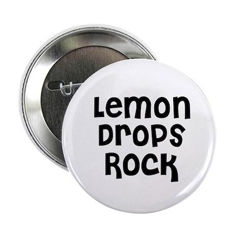 """Lemon Drops Rock 2.25"""" Button (10 pack)"""
