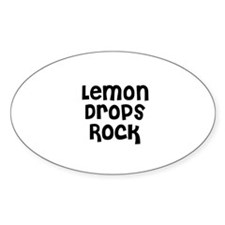 Lemon Drops Rock Oval Decal