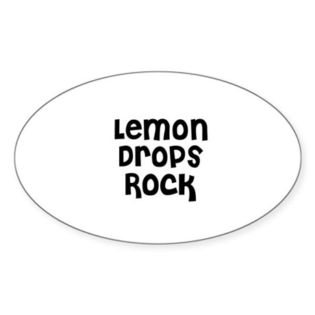 Lemon Drops Rock Oval Decal by supercafe