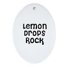 Lemon Drops Rock Oval Ornament