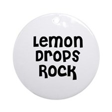 Lemon Drops Rock Ornament (Round)